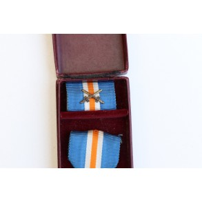 Dutch Mussert cross + box and ribbon bar