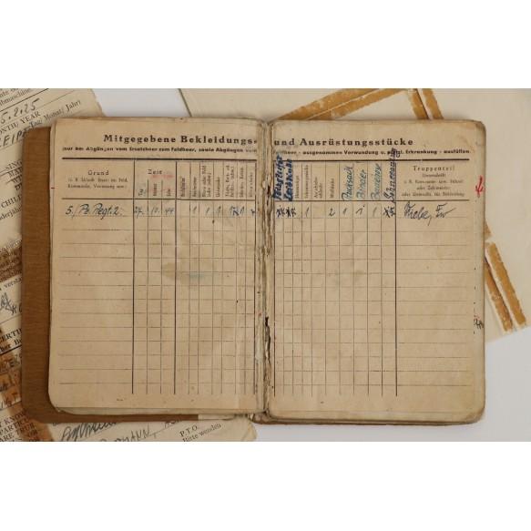 Soldbuch + documents to Uffz. R. Lustermann, Pz Assault badge 25! Pz Rgt 2, Poland, Warsaw 1944-45