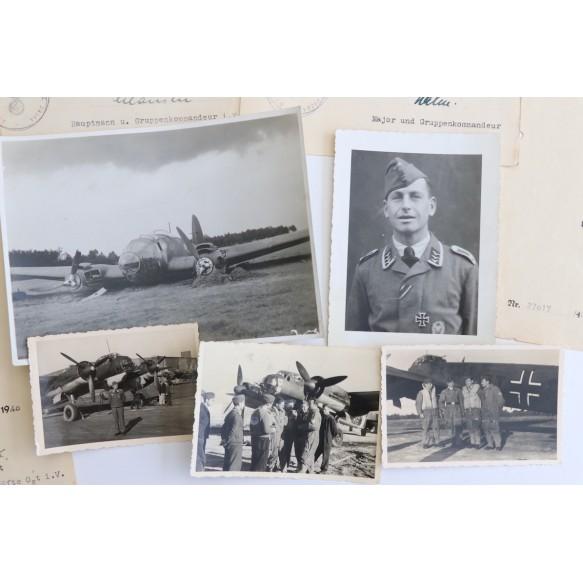 Luftwaffe grouping to Feldwebel H. Merz, Kampfgruppe 606, 1940!!