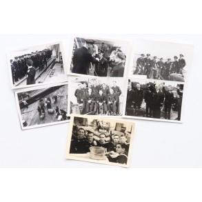 Private snapshot Kriegsmarine NCO team