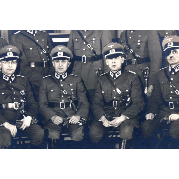2 large size photos German customs police + SS FM members!!!