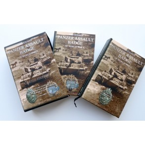 The German Panzer Assault badge of World War II by Philippe De Bock, limited edition.