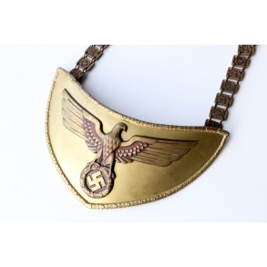 SA Political Leader's Gorget by Frank & Reif + chain