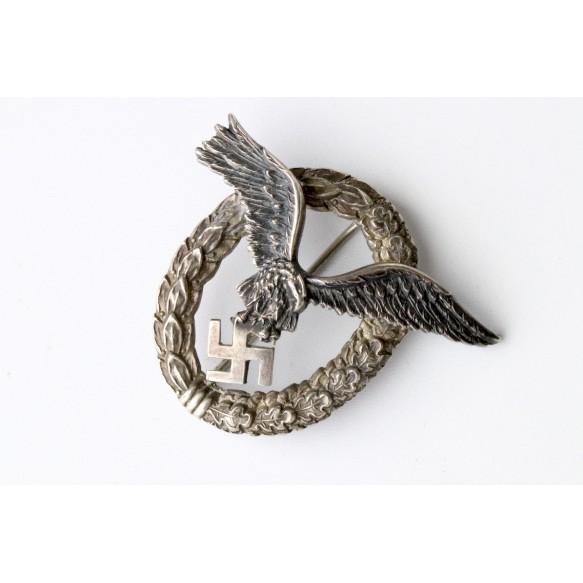 """Luftwaffe pilot badge by C.E. Juncker """"J3"""""""