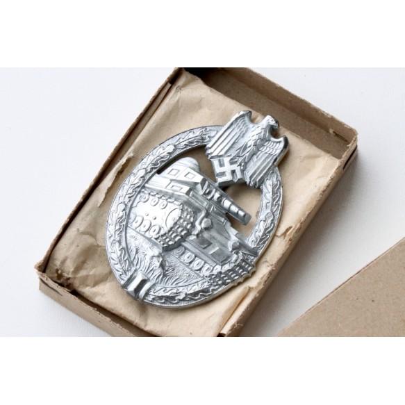 Panzer Assault Badge in silver by H. Aurich