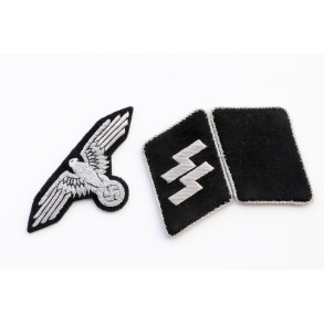 SS unissued officer matching insignia set!