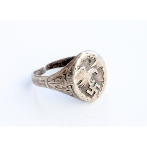 Luftwaffe observer ring 835 silver