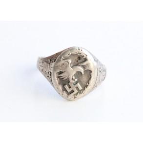 Luftwaffe observer ring 835 silver