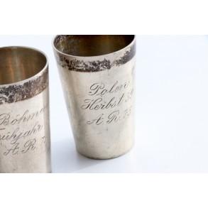 Set of 3 silver cups Art. Reg. 75, 1938-1939