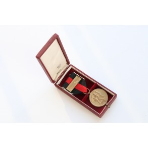 1st october annexation medal + prague bar in box