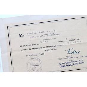 Soldbuch group to H. Haap, Grossdeutschland, Brandenburg, France 1944!!!