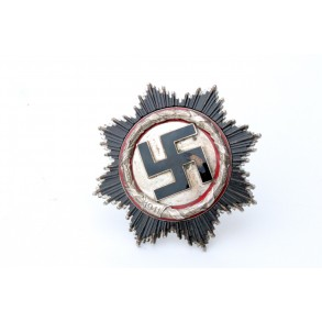 German Cross in silver by Deschler & Sohn, 6 rivets short pin!!