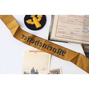 HJ Kriegsmarine helper grouping P. Frank. Flakschüle in Swinemünde 1944/45