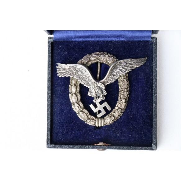 Luftwaffe pilot badge by W. Deumer + Deumer box