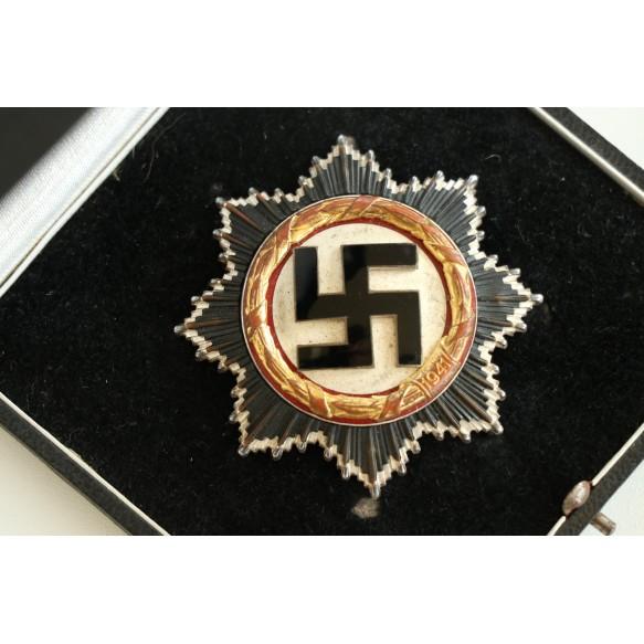 "German cross in gold by Gebr. Godet & Co. ""21"" + box"