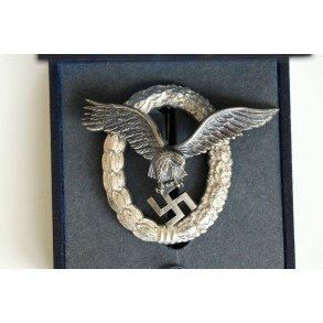 Luftwaffe pilot badge by F. Linden + case MINT