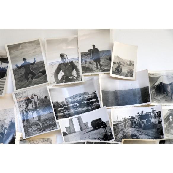 Photo lot Afrikakorps 1941-1943, Tunis, Libya, El Alamein, Derua,...