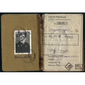 Soldbuch to W. Menzel, Pz Rgt Feldherrnhalle, Italy 1944-45