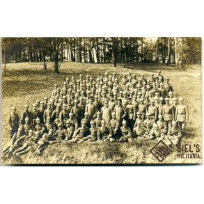 WW1 group photo soldiers with pin helmets!