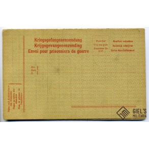 POW prisoner mailing card (German)