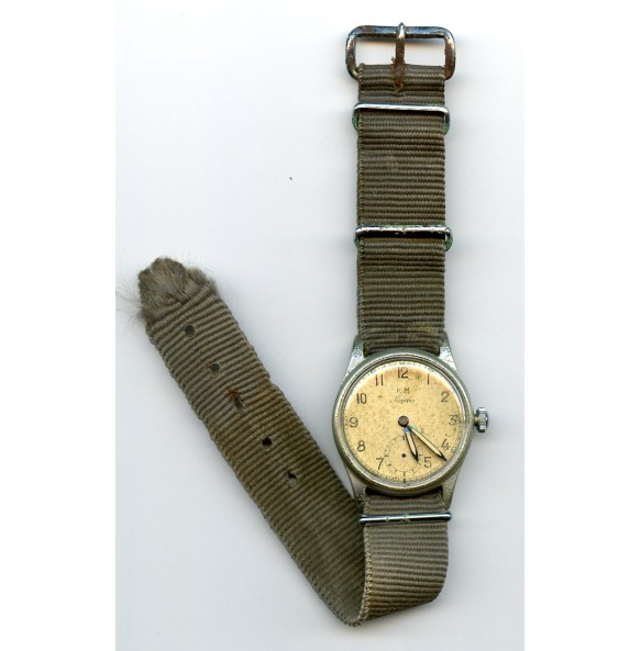 "Kriegsmarine wrist watch #123809 by ""Siegerin"""