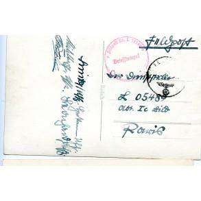New year card sent to Paris, Luftwaffe Bildzug (mot)