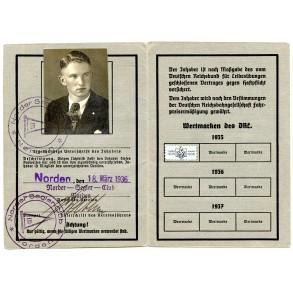 NSRL memberships pass to H. Penning, glider pilot Norden.