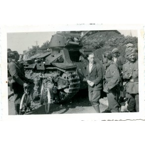 Private snapshot destroyed French panzer 1940