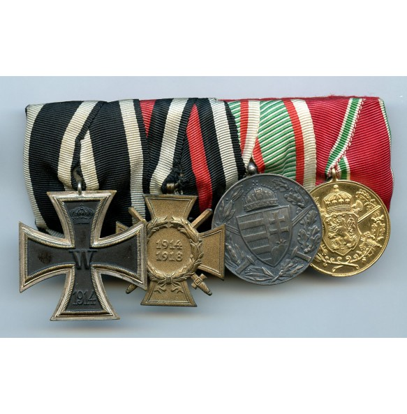 Medal bar WW1 veteran with non-magnetic iron cross 2nd class