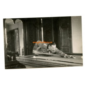 "Private snapshot SS-Brigadeführer ""LSSAH"" Walter Staudinger at pool table"