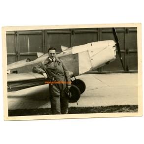 "Private snapshot SS-Brigadeführer ""LSSAH"" Walter Staudinger pilot"