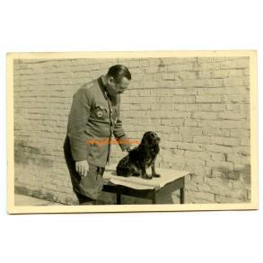 "Private snapshot SS-Brigadeführer ""LSSAH"" Walter Staudinger with dog"
