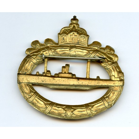 WW1 Imperial U-Boat badge, hollow back!
