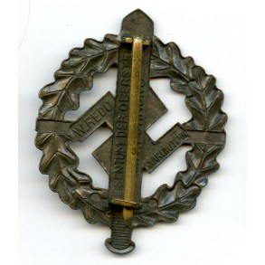 SA sports badge in bronze by W. Redo