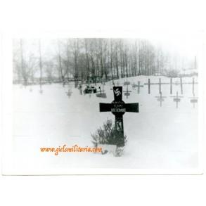 Flemish grave press photo Flemish NSKK volunteer Vervoort Lode (1921-1942)