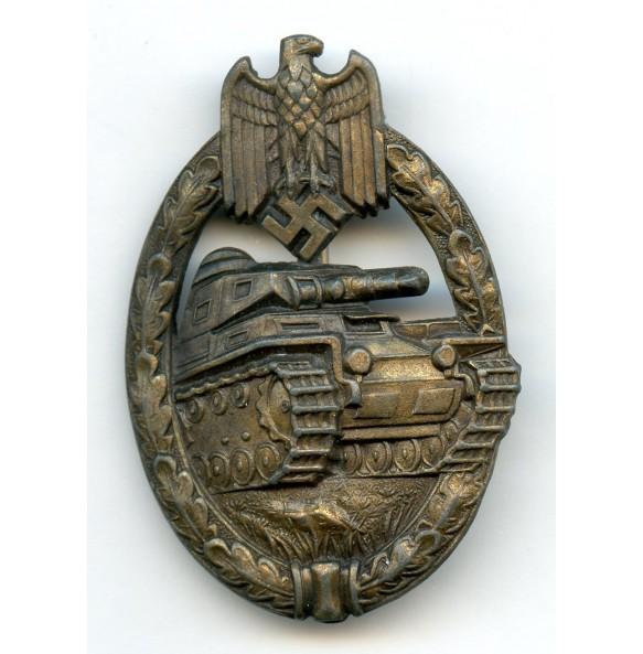 Panzer Assault Badge in bronze by C.E. Juncker