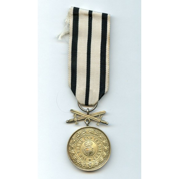 Hohenzollern 1842 Merit medal with swords
