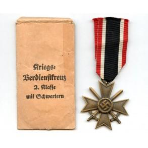 War Merit Cross 2n class with swords by Gebr. Godet + package
