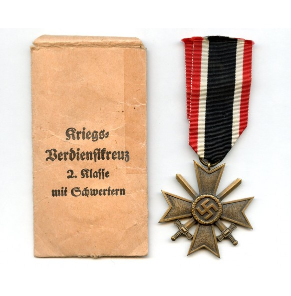 War Merit Cross 2n class with swords by Gebr. Godet + package