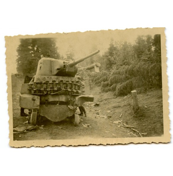 Private snapshot knocked out Russian panzer 1941