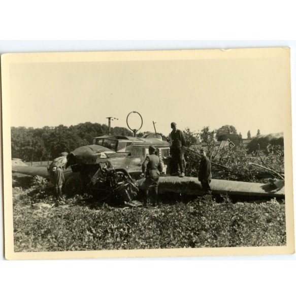 Private snapshot crashed German Junckers plane Poland 1939