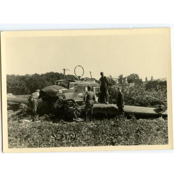 Private snapshot crashed German Junckers plane Poland 1939