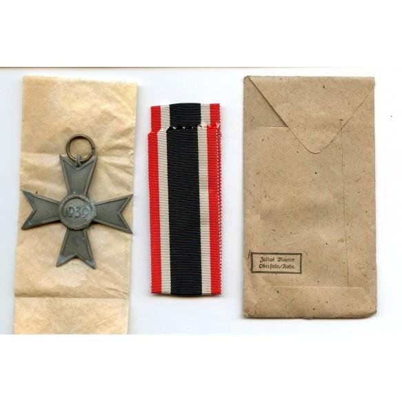 """War Merit Cross 2nd class by Julius Maurer """"75"""" + package"""