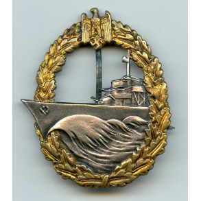 "Kriegsmarine Destroyer Badge by Steinhauer & Lück ""4"""
