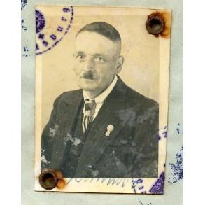 Wehrpass to M. Bornsholdt, mobilsed WW1 veteran.