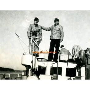Private snapshot Kriegsmarine boat, Holland