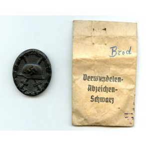 """Wound badge in black """"chaos pattern"""" + package by G. Brehmer"""