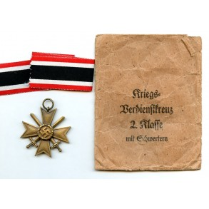 War Merit Cross 2nd class with swords by A. Rettemaier + package