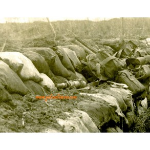 WW1 Private snapshot trench horror shot down British soldiers