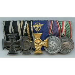 Medal bar Police 25 year service medal  / Luftschutz